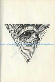All Seeing Eye dotwork tattoo