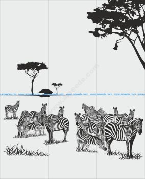 Animals Zebra Sandblast Pattern