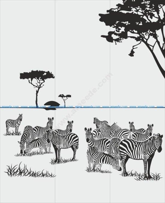 Animals Zebra Sandblast Pattern