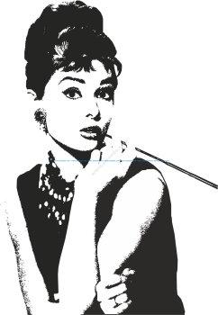 Audrey Hepburn Vector Art