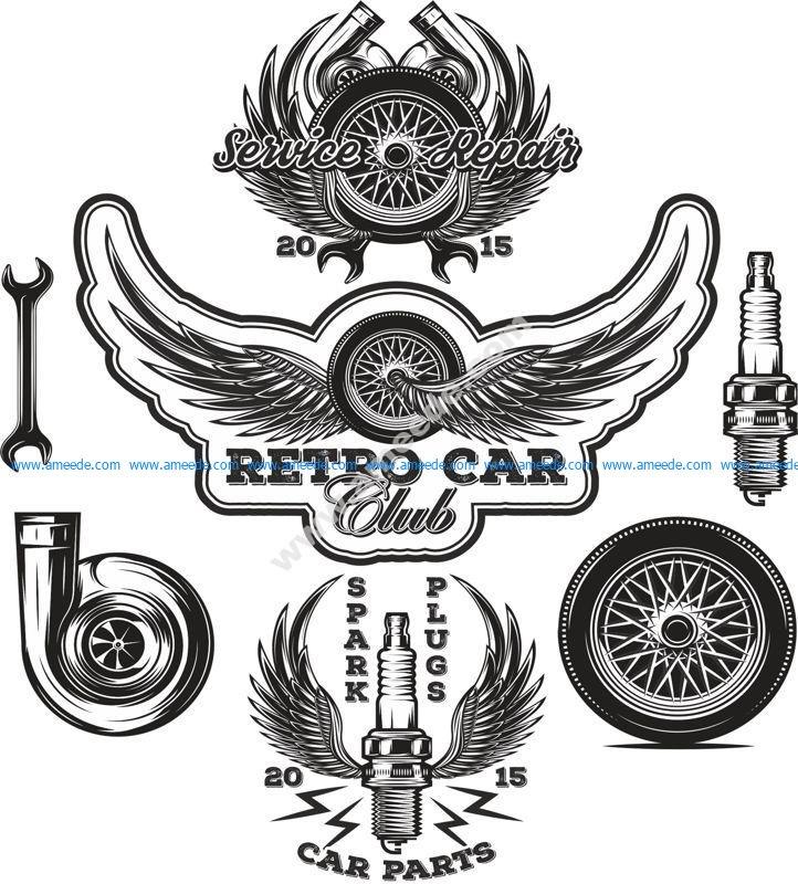 Auto Repair Stickers