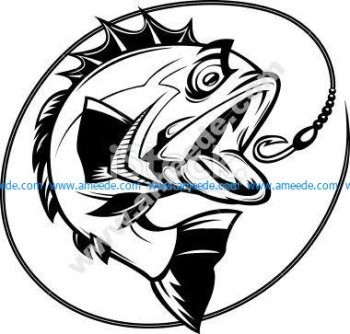 Bass Fish Outline