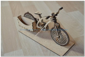Bike Wooden Organizer A Bike