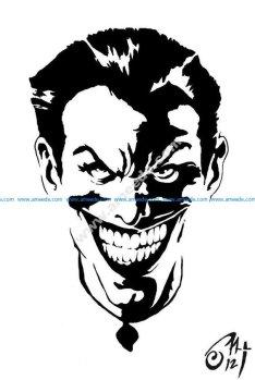 Black and white Joker Stencil vector