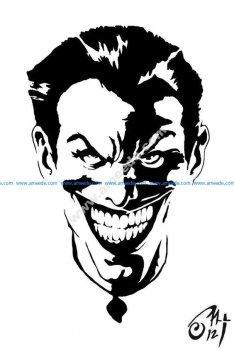 Black and white Joker Stencil vector