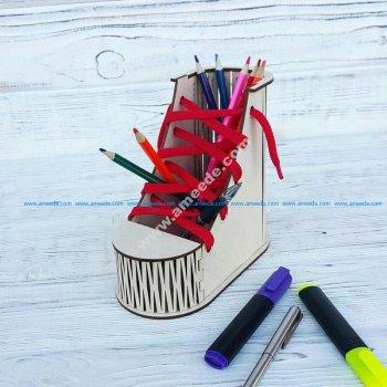 Boot Desk Organizer Pen Pencil Holder