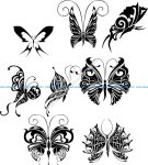 Butterfly Tattoo Design Vectors Art