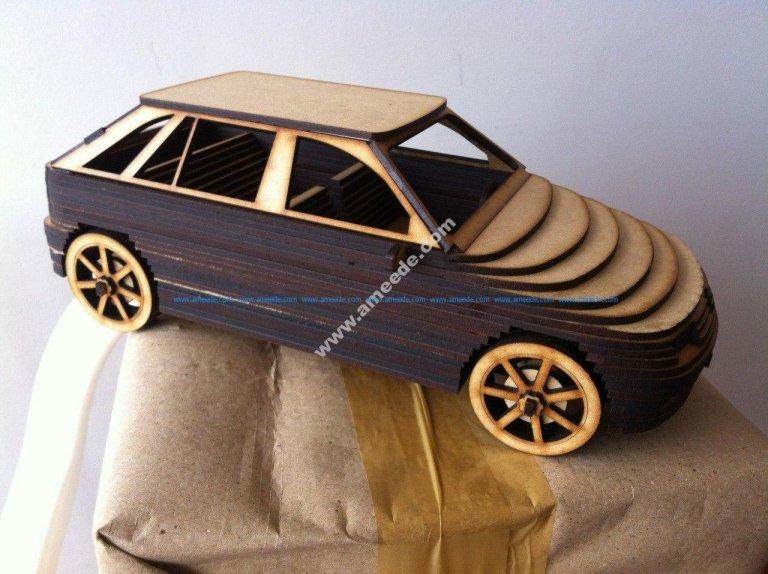 Car Mdf 3D Laser Cutting