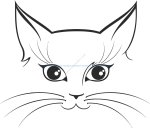 Cat Sticker Vector