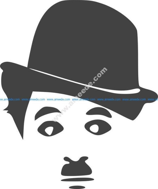 Charlie Chaplin Silhouette Vinyl Sticker