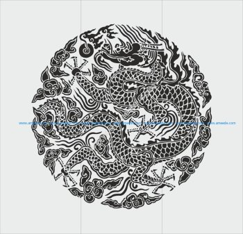 Chinese dragon totem style