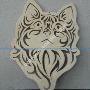 Cute Kitten Face Cat Stencil Vector