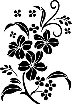 Decorative Floral Ornament Vector Art jpg