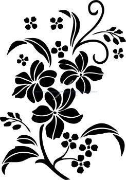 Decorative Floral Ornament Vector Art jpg