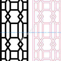 Decorative Room Divider Dxf Pattern Design