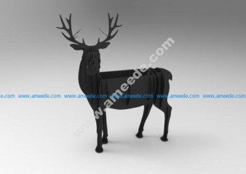 Deer BBQ cnc vector plan