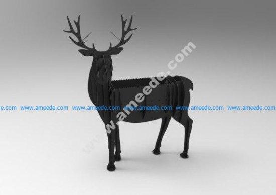 Deer BBQ cnc vector plan