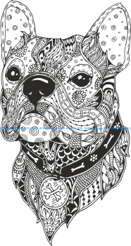Dog Head Line Drawing Vector