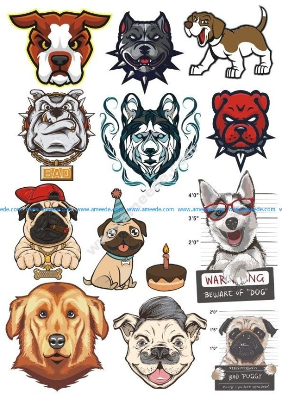 Dogs Vector Set