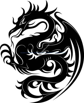Dragon Stencil Vector