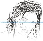 Drawn woman vector