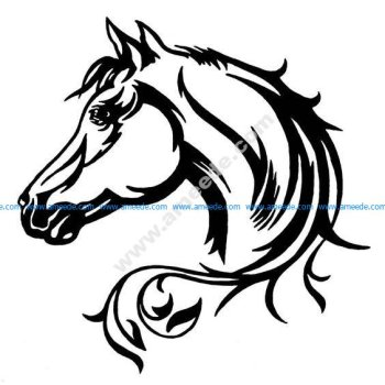 Elegant Horse Head Car Decal