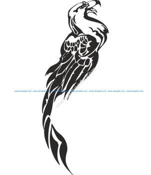 Fenix Tattoo Design Vector