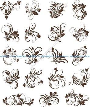 Floral Ornaments Element Vector
