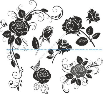 Flower Rose Vector