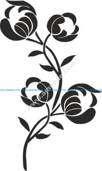 Flower Stencil Siluetas Carving Pattern