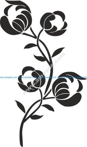 Flower Stencil Siluetas Carving Pattern