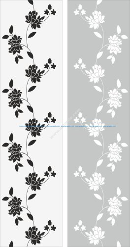 Flowers Glass Decal Vector