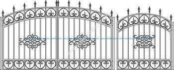 Forged Gates Sketch Vector