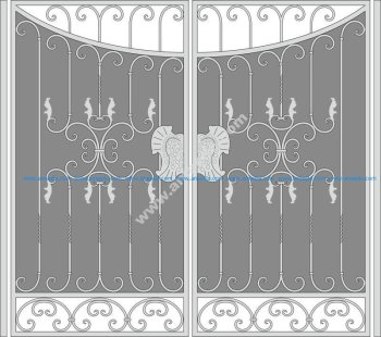 Forged Iron Gate Vector Art