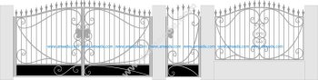 Forged gate and wicket design vector