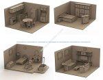 Furniture Set Doll House Mdf Laser Cut