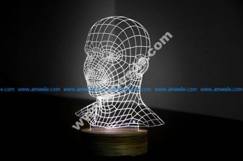 HEAD 3d illusion acrylic lamp