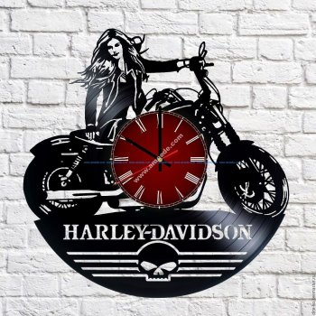 Harley Davidson Vinyl Record Wall Clock