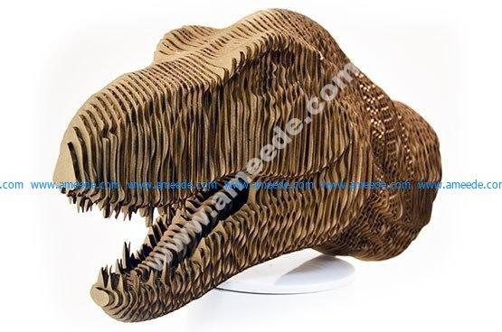 Head of the Dinosaur Tyrannosaurus CDR