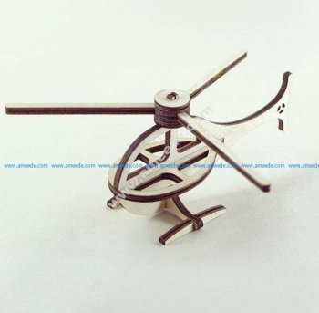 Helicopter 3D Puzzle Pattern Toy