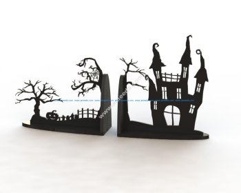 Horror Book Support Laser Cut