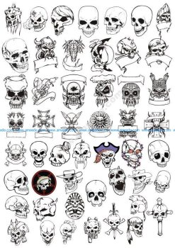 Horror Skulls Vector Art Collection