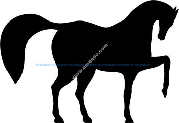 Horse Dancing Vector