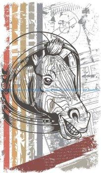 Horse vector T-shirt print
