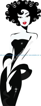 Lady Looking Silhouette Vector