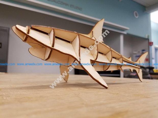 Laser Cut Shark