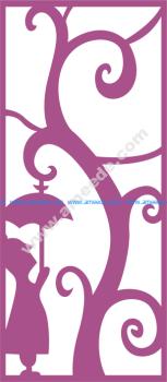 Laser Cut Vector Panel Seamless 167