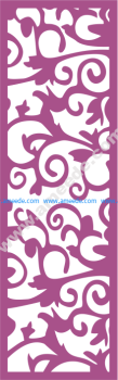 Laser Cut Vector Panel Seamless 171