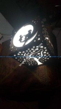 Laser Cut Wood Lamp Shade