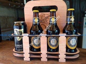 Laser cut beer holder 8 pack